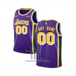 Camiseta Nino Los Angeles Lakers Personalizada Statement 2018-19 Violeta