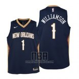 Camiseta Nino New Orleans Pelicans Zion Williamson NO 1 Icon 2019 Azul