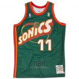 Camiseta Seattle SuperSonics Detlef Schrempf NO 11 Historic Retro Verde