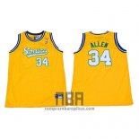 Camiseta Seattle SuperSonics Ray Allen NO 34 Historic Amarillo2