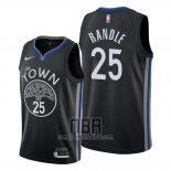 Camiseta Golden State Warriors Chasson Randle NO 25 Ciudad 2020 Negro
