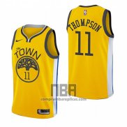 Camiseta Golden State Warriors Klay Thompson NO 11 Earned 2018-19 Amarillo