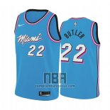 Camiseta Miami Heat Jimmy Butler NO 22 Earned 2019 Azul
