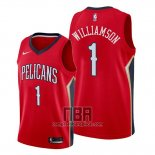 Camiseta New Orleans Pelicans Zion Williamson NO 1 Statement 2019-20 Rojo