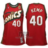 Camiseta Seattle SuperSonics Shawn Kemp NO 40 Historic Retro Rojo