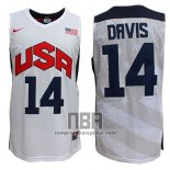 Camiseta USA 2012 Anthony Davis NO 14 Blanco