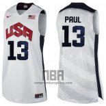 Camiseta USA 2012 Chris Paul NO 13 Blanco