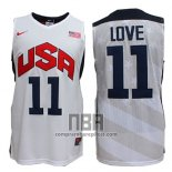 Camiseta USA 2012 Kevin Love NO 11 Blanco
