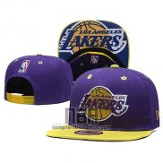 Gorra Los Angeles Lakers Snapback Violeta Amarillo
