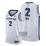 Camiseta Memphis Grizzlies Jordan Bell NO 2 Association 2019-20 Blanco