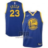 Camiseta Nino Golden State Warriors Draymond Green NO 23 2018 Azul