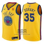 Camiseta Nino Golden State Warriors Kevin Durant NO 35 Ciudad Amarillo