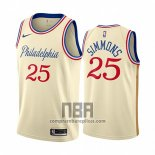 Camiseta Philadelphia 76ers Ben Simmons NO 25 Ciudad 2019-20 Cream