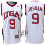 Camiseta USA 1984 Michael Jordan NO 9 Blanco
