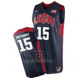 Camiseta USA 2012 Carmelo Anthony NO 15 Negro