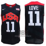 Camiseta USA 2012 Kevin Love NO 11 Negro