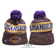 Gorro Beanie Los Angeles Lakers Violeta Blanco2