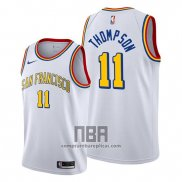 Camiseta Golden State Warriors Klay Thompson NO 11 Classic Edition Blanco