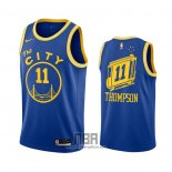 Camiseta Golden State Warriors Klay Thompson NO 11 Hardwood Classics 2020-21 Azul