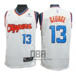Camiseta Los Angeles Clippers Paul George NO 13 2019-20 Blanco