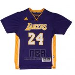 Camiseta Manga Corta Los Angeles Lakers Kobe Bryant NO 24 Violeta
