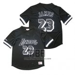 Camiseta Manga Corta Los Angeles Lakers Lebron James NO 23 Negro