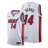 Camiseta Miami Heat Tyler Herro NO 14 Association 2019-20 Blanco
