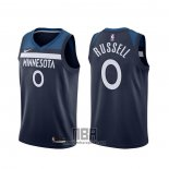 Camiseta Minnesota Timberwolves D'angelo Russell NO 0 Icon Azul