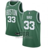Camiseta Nino Boston Celtics Larry Bird NO 33 Ciudad 2018 Verde