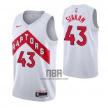 Camiseta Toronto Raptors Pascal Siakam NO 43 Association 2020-21 Blanco