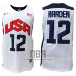 Camiseta USA 2012 James Harden NO 12 Blanco