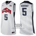Camiseta USA 2012 Kevin Durant NO 5 Blanco