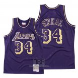 Camiseta Los Angeles Lakers Shaquille O'neal NO 34 2020 Chinese New Year Throwback Violeta