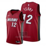 Camiseta Miami Heat Emanuel Terry NO 12 Statement Rojo