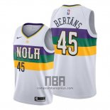 Camiseta New Orleans Pelicans Dairis Bertans NO 45 Ciudad Blanco
