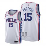 Camiseta Philadelphia 76ers Al Horford NO 15 Association Blanco