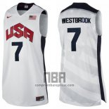 Camiseta USA 2012 Russell Westbrook NO 7 Blanco