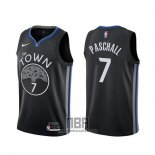 Camiseta Golden State Warriors Eric Paschall NO 7 Ciudad 2019-20 Negro