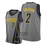 Camiseta Indiana Pacers Darren Collison NO 2 Ciudad Edition Gris