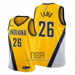 Camiseta Indiana Pacers Jeremy Lamb NO 26 Statement Edition Amarillo