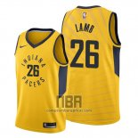 Camiseta Indiana Pacers Jeremy Lamb NO 26 Statement Oro