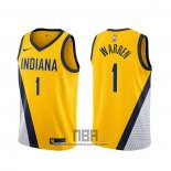 Camiseta Indiana Pacers T.j. Warren NO 1 Statement 2019-20 Amarillo