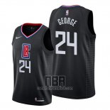 Camiseta Los Angeles Clippers Paul George NO 24 Statement 2019-20 Negro