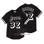 Camiseta Manga Corta Los Angeles Lakers Magic Johnson NO 32 Negro