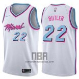 Camiseta Miami Heat Jimmy Butler NO 22 Ciudad 2019 Blanco