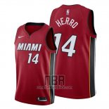 Camiseta Miami Heat Tyler Herro NO 14 Statement 2019-20 Rojo