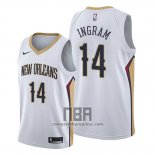 Camiseta New Orleans Pelicans Brandon Ingram NO 14 Association Blanco