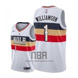 Camiseta New Orleans Pelicans Zion Williamson NO 1 Earned 2019-20 Blanco