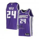 Camiseta Sacramento Kings Buddy Hield NO 24 Icon Violeta