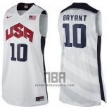 Camiseta USA 2012 Kobe Bryant NO 10 Blanco